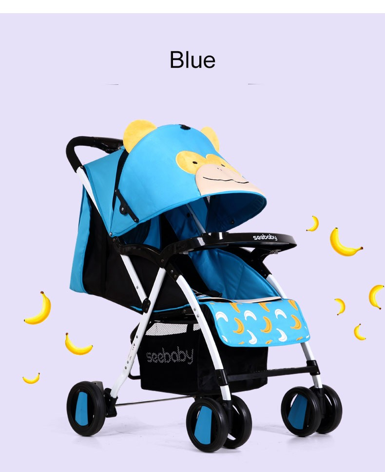 Full canopy seebaby stroller fashion portable baby buggy