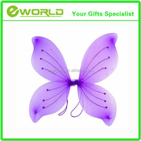 Party Decoration Deluxe Butterfly Purple & Silver Fairy Wings