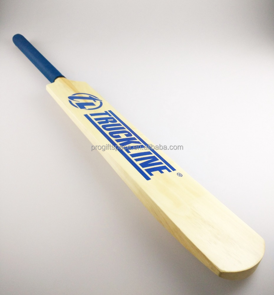 New products 2017 best custom logo cheap price thick edge wood tennis ball cricket bat wholesale made in china