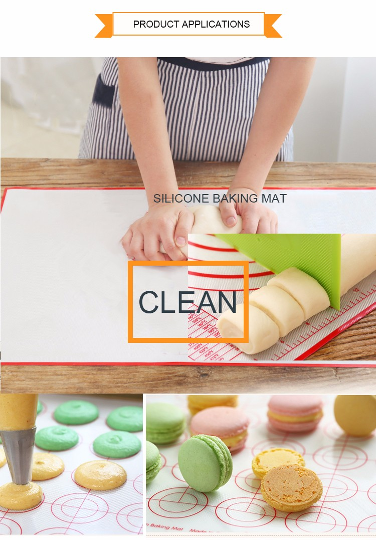 Best Selling Colorful durable Silicone Baking Mat With Food Grade
