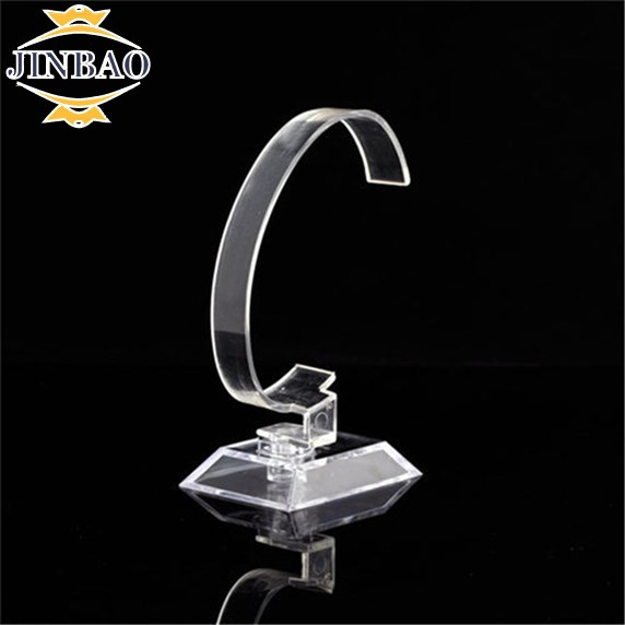 JINBAO Clear Acrylic Bracelet Watch Display Holder Stand Rack <strong>Retail</strong> Shop Showcase Top Quality Hot Plastic Popular