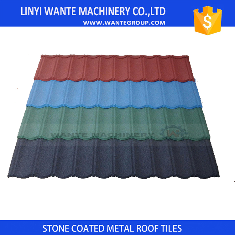 popular classic colorful stone coated metal roofing tile / metal corrugated tile roofing/Stone Chip Coated Metal