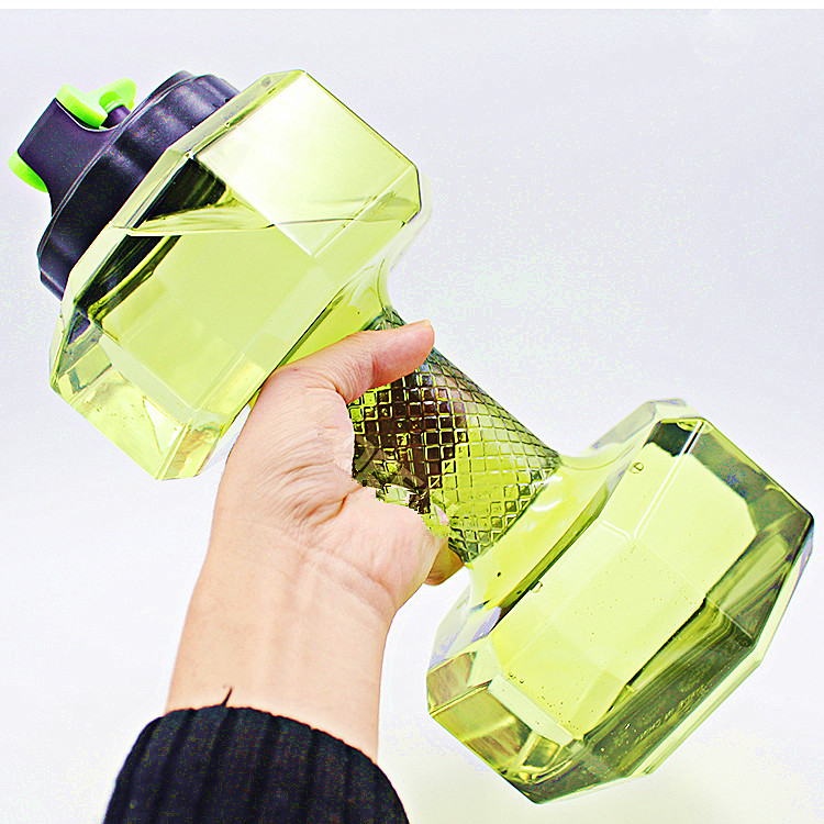 Made in China Custom Logo New Design 2.2L Plastic Wide Mouth Fitness Gym Bottle