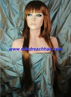 2012 New Year style virgin Chinese hair wigs,accept paypal
