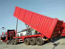 Best sales 3 axle front lifting rear dump auto tipper truck trailer