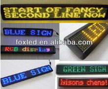 2012 Alibaba hot-sale Moving bus P10 single and dual color LED outdoor strip display screen