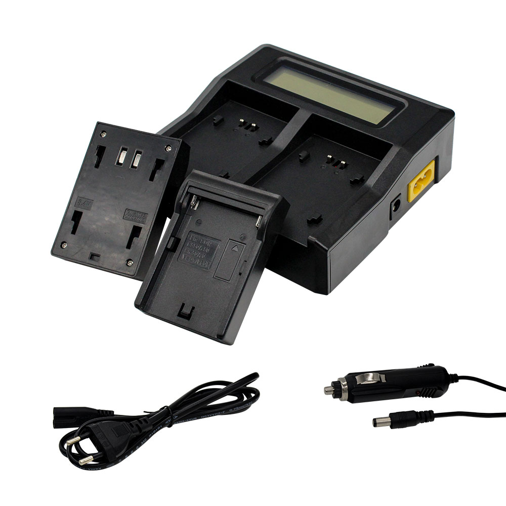 Wholesale NP-F970 NP F970 NP-F990 NP-F770 Battery LCD Dual Charger For Sony Camcorders