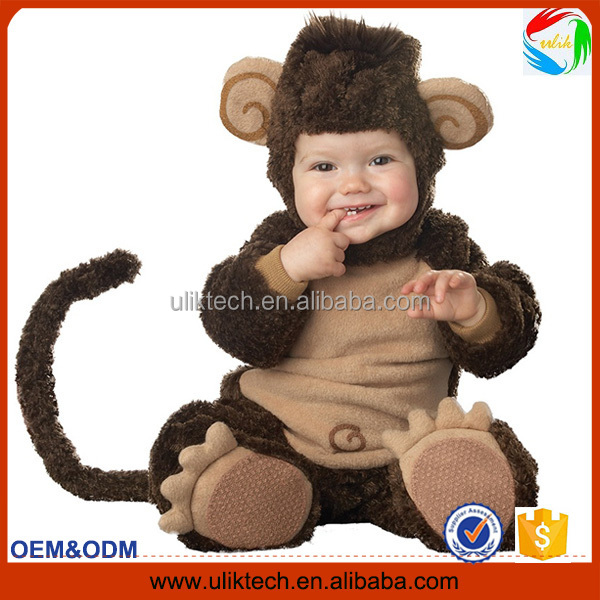 New design funny party animal cosplay for baby wear mascot costume wholesale kids halloween costume (ulik-M017)