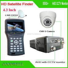 "New Support AHD CCTV Camera Test 4.3"" Portable DVB-S2 Digital Satellite Finder with 13/18V LNB Input"