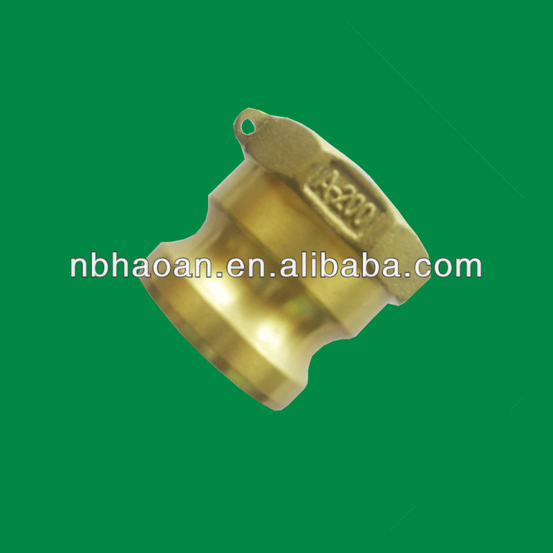 brass dust plug cam and groove dust cap coupling