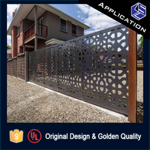 Great value latest sliding different steel front main gate designs