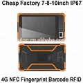 Cheap Factory 8-inch 8inch 8 inch barcode scanner front NFC reader biometric fingerprint rugged mobile tablet pc