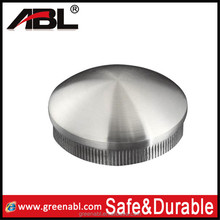 TOP sale stainless steel stairs railing end cap round fence post caps