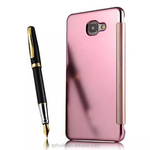 Clear View PC Cover Auto Sleep Wake Mirror Flip Leather Case For Samsung Galaxy s7 edge