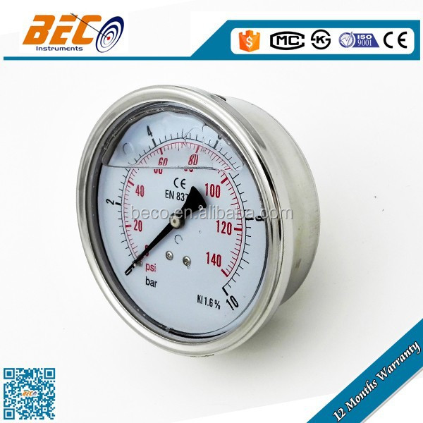 wika natural gas pressure gauge