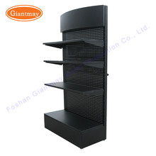 iron metal pegboard for hardware product hang power tools display stand shelves rack