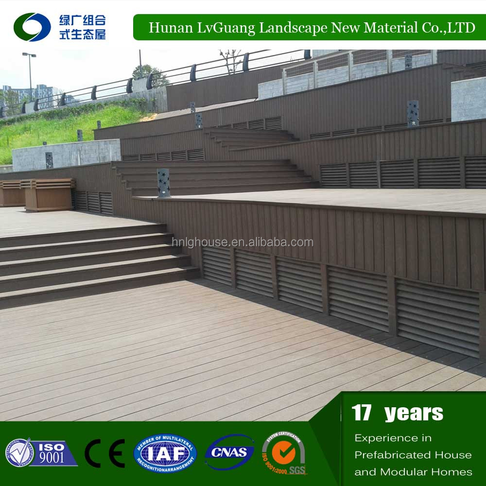 Cheap price wpc hollow composite decking board/wood-plastic composite board