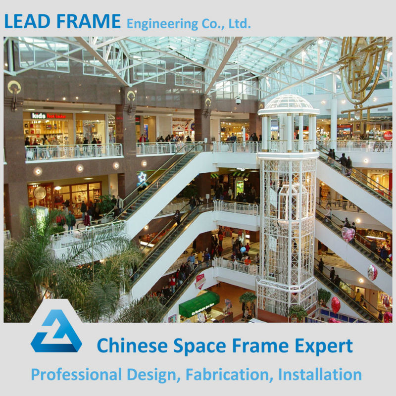 Light steel structure canopy prefabricated shopping center