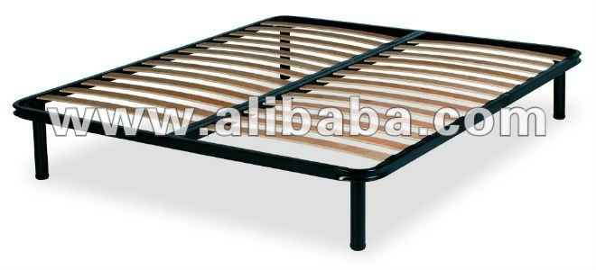 Metal Bed Frame with Wooden Slat