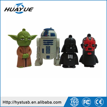 Gadgets USB 2.0 R2D2 Flash Drive New Star War Silicone Thumb Flash With Real Capacity
