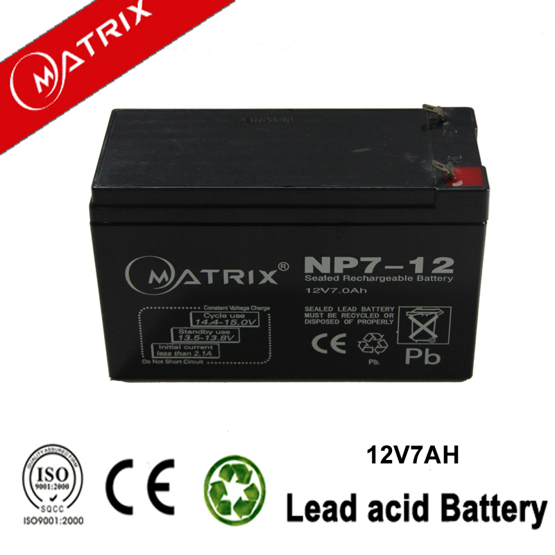 12V 7AH 20Hr Battery for Electric torch