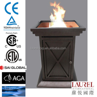 free standing outdoor gas fire