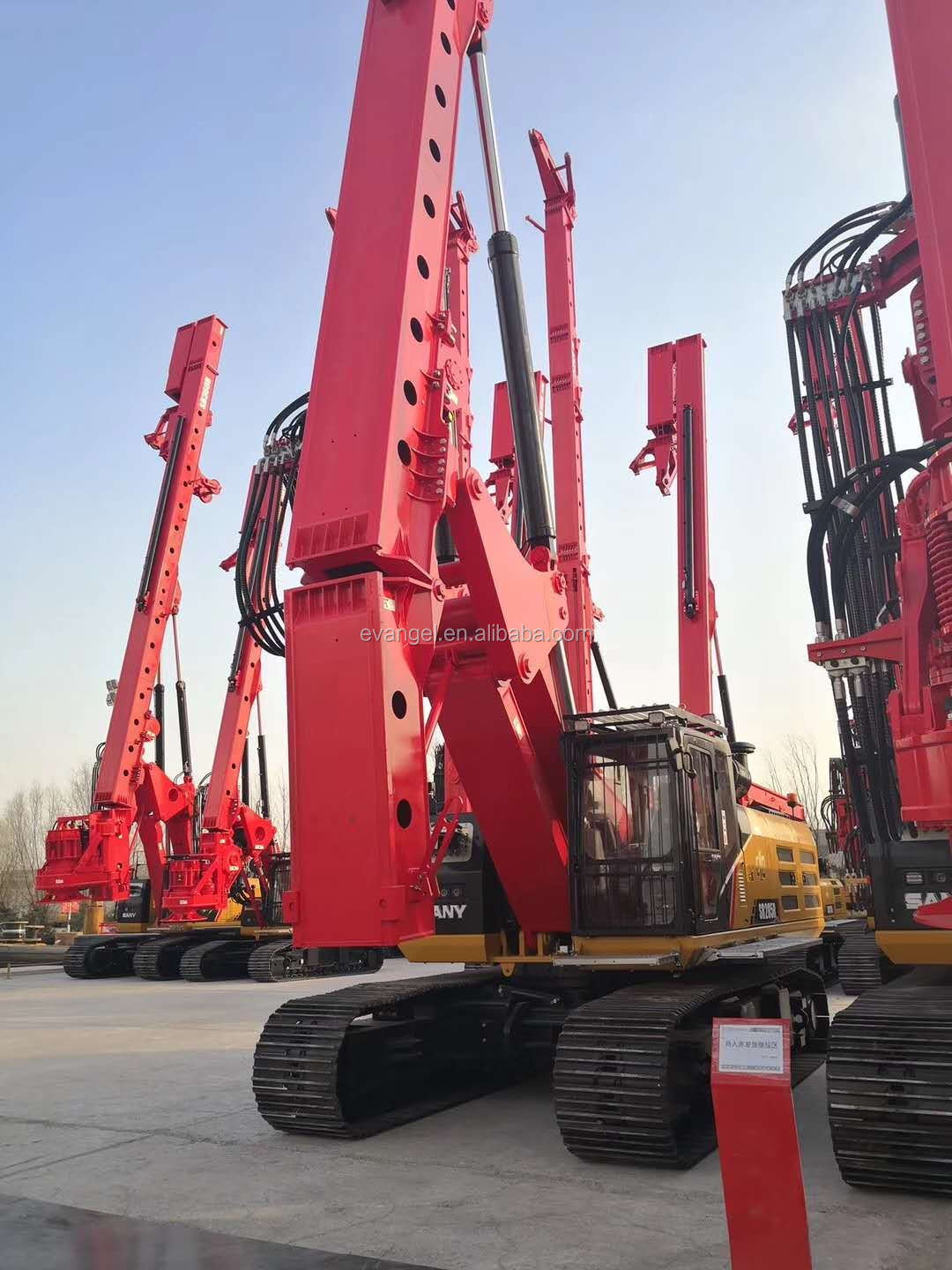 SANY 150KN.M Hydraulic Mobile Portable Rotary Drilling Rig SR155C for sale