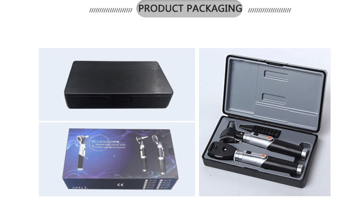 Factory wholesale portable clinic otoscope and ophthalmoscope set