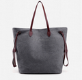 Vintage Canvas Tote Bag in Grey