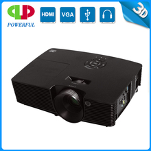 Newest XGA DMD Chip DLP 3D 1024*768 support 1920*1080 full HD projector with 3500 lumens 20000:1 contrast ratio 6500h lamp life