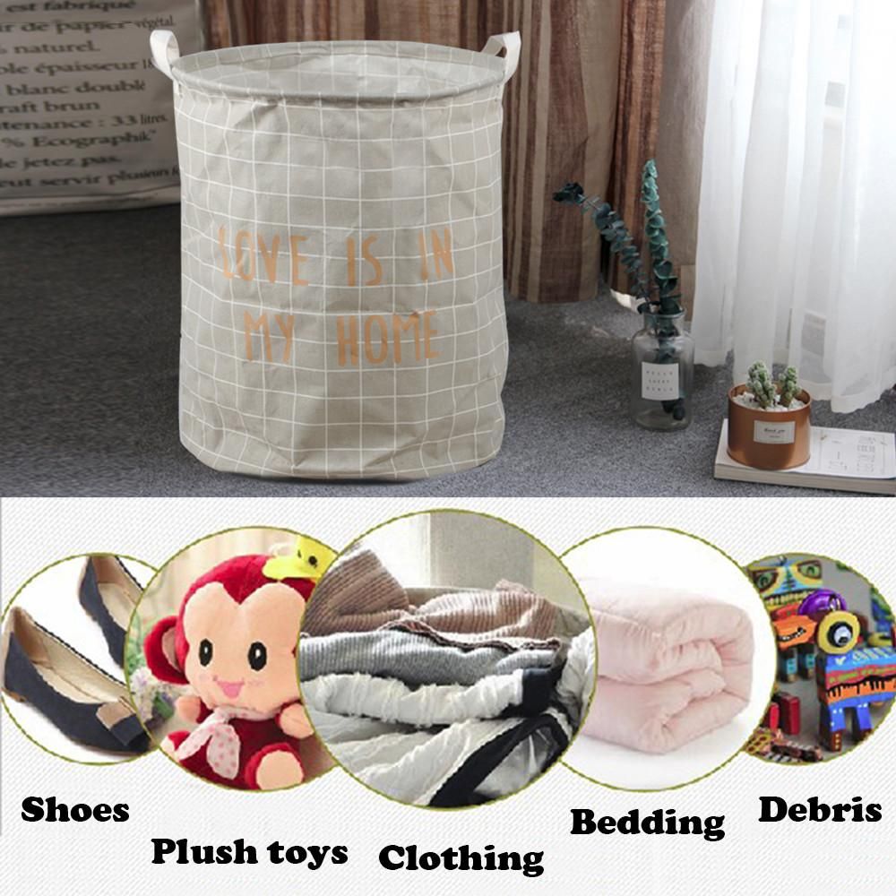 "19.7"" Large Laundry Basket Laundry Hamper Waterproof Coating Folding Basket"
