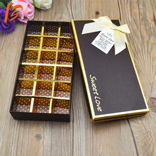 luxury candy and chocolate box with insert tray paper box