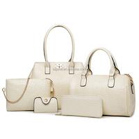 Fashion manufacturers PU leather women lady 6 pieces set handbag
