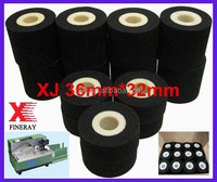 Black color XJ type Fineray brand Printing date/batch numer Dia36mm*32mm Hot ink roller for hot ink roll coder