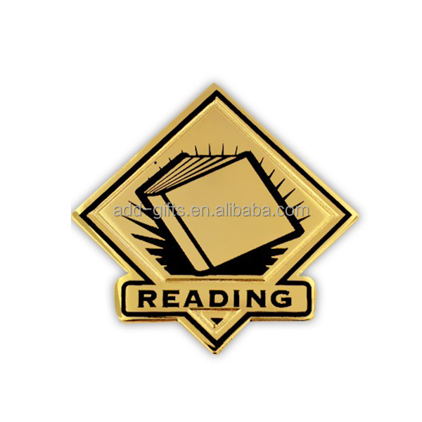 reading prize enamel metal Pin