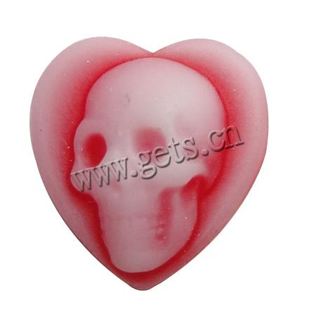 Resin 12.5x13.5x4mm resin skull cameo