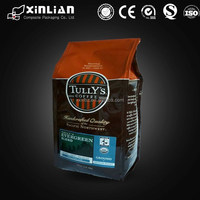 New type resealable plastic coffee bags