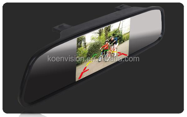 Clipe de Venda quente Em 4.3 polegadas Espelho Retrovisor Do Carro Sensor de Estacionamento