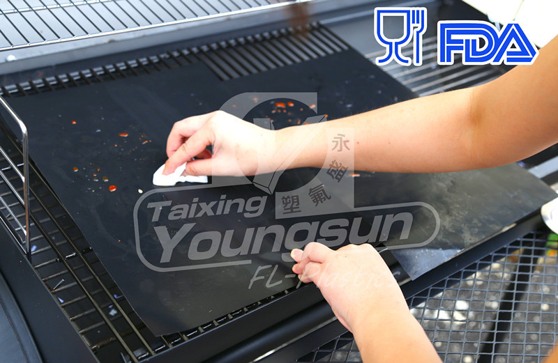 2016 Good quality reusable non-stick bbq grill mat 100%PFOA free non stick bbq grill mats cooking liner