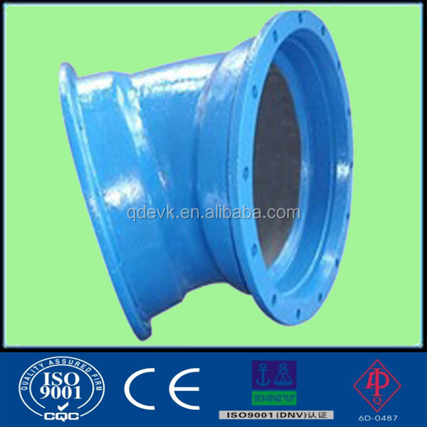 Epoxy coating Ductile iron flange Elbow