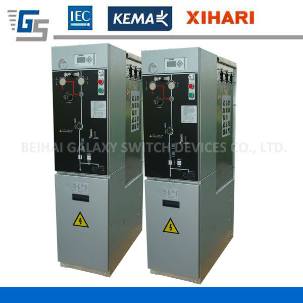 SF6 insulated vacuum circuit breaker panel, KEMA ring main unit