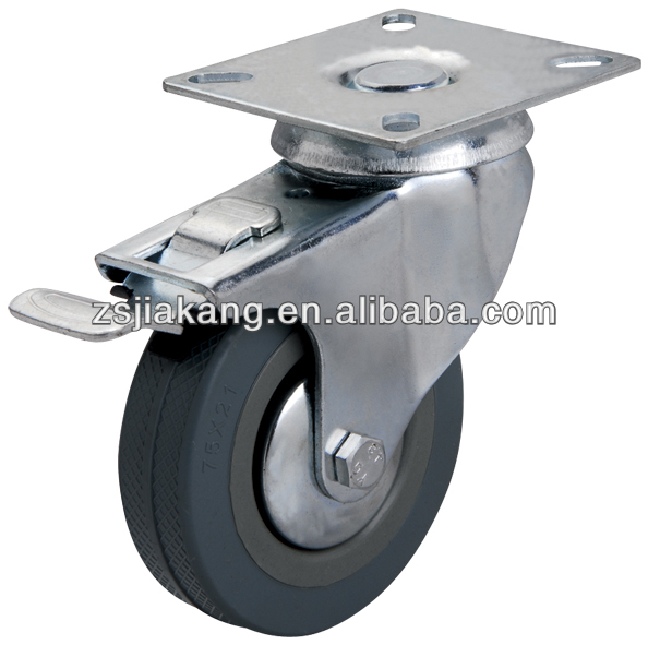 50mm gray rubber wheels for trolley