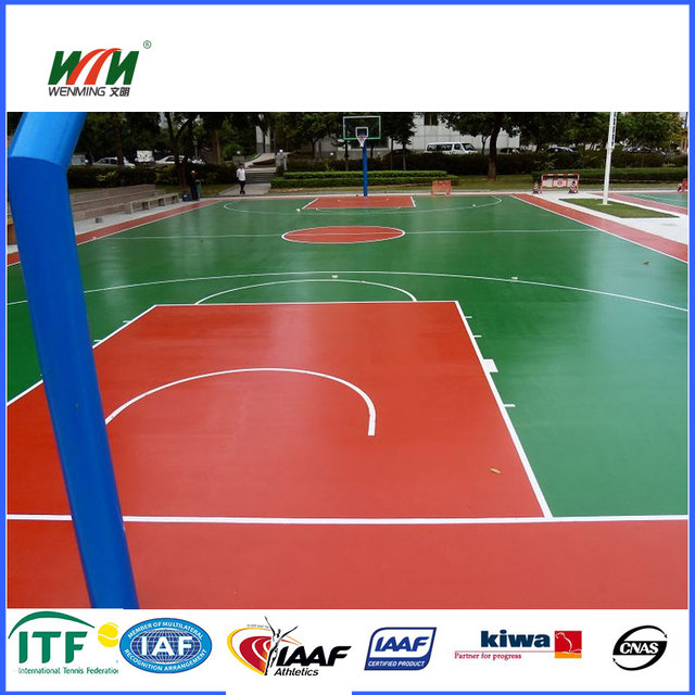 colorful indoor spu basketball sport court flooring surface