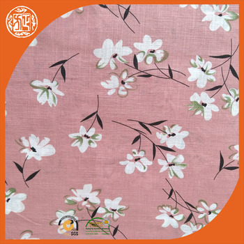 Eco friendly organic print cotton linen fabric