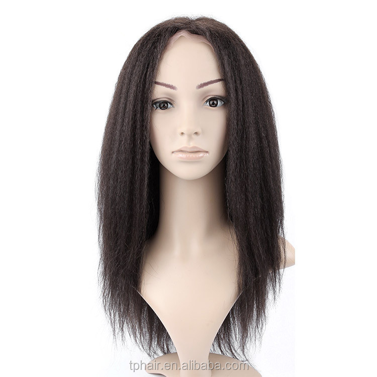 Wholesale High Quality Unprocessed Virgin Indian Remy Afro Kinky Curly Human Hair Full Lace Wig for Black Women