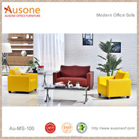 Modern design office used yellow leather sofa