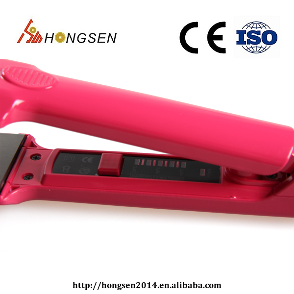 Wholesale price professional custom hair straightener with LED display,easy to control