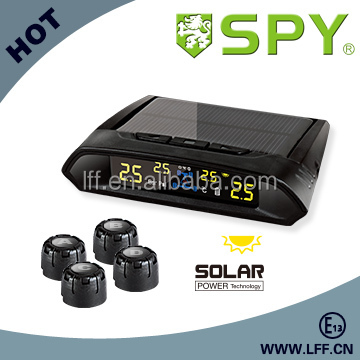 CAR TPMS WITH SOLAR POWER SUPPLY AND EXTERNAL SENSOR,