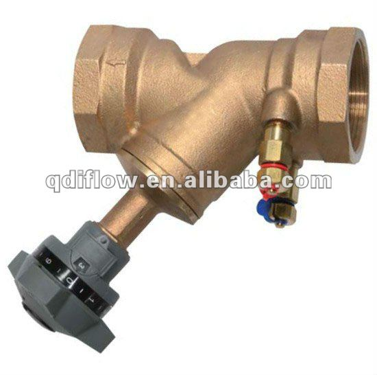 Variable orifice bronze double regulating valve
