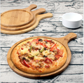 4 pcs Bamboo Pizza Cutting Board Tray Set in Different size